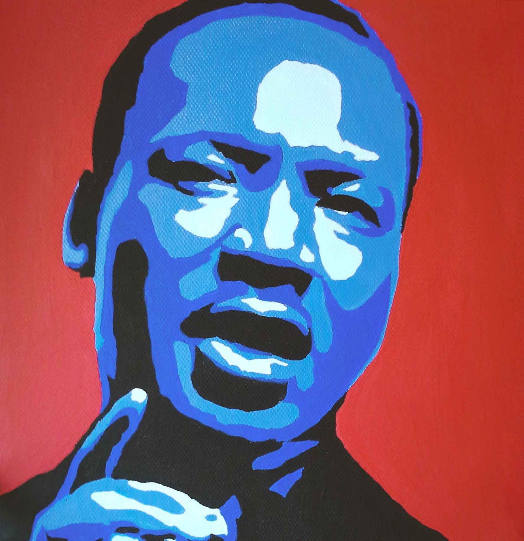 """9x9"""" Acrylic on Canvas"""