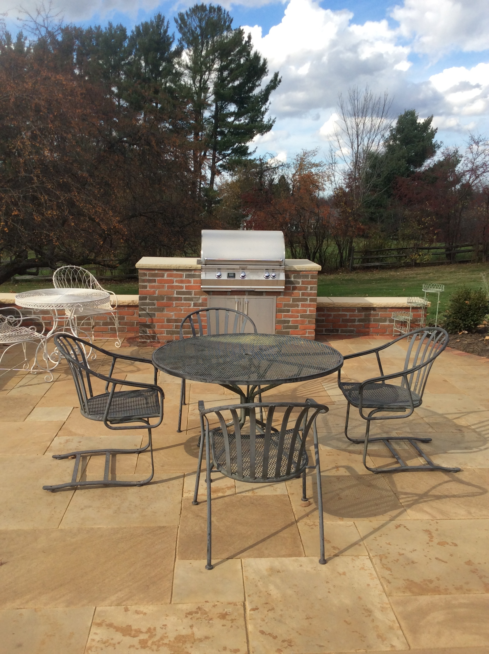 Landscape design with Unilock patio pavers in Bainbridge Township, OH