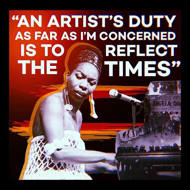 #Repost @vrye ・・・ [i have an obsessive need to create]  #ninasimone #artistsoninstagram #artist