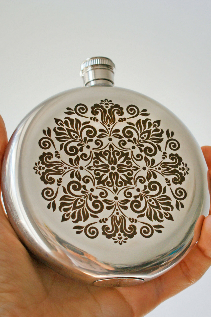 Bridesmaid Round Flask