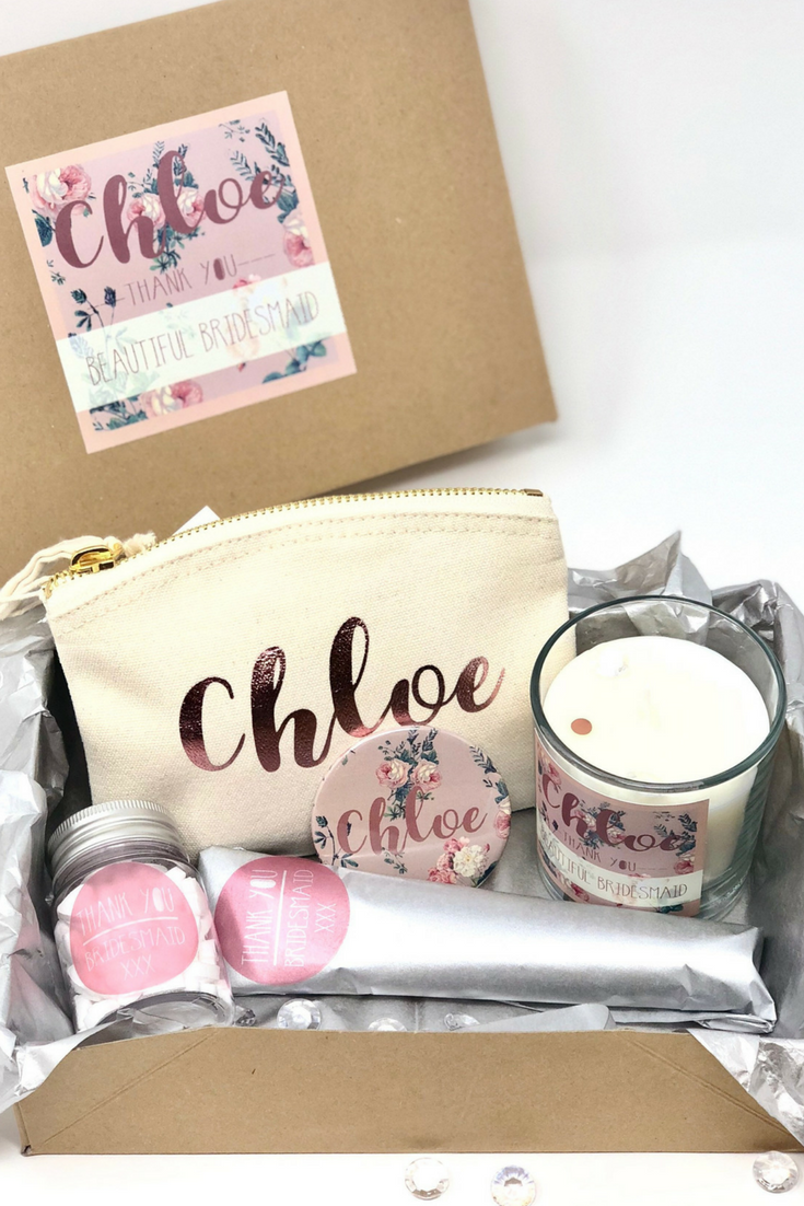 Personalized Bridesmaid Gift Box