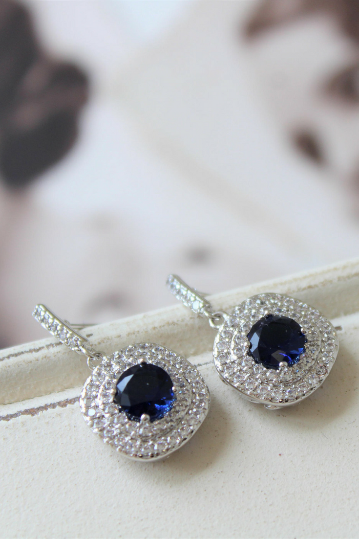Bridesmaid Earings Necklace Set