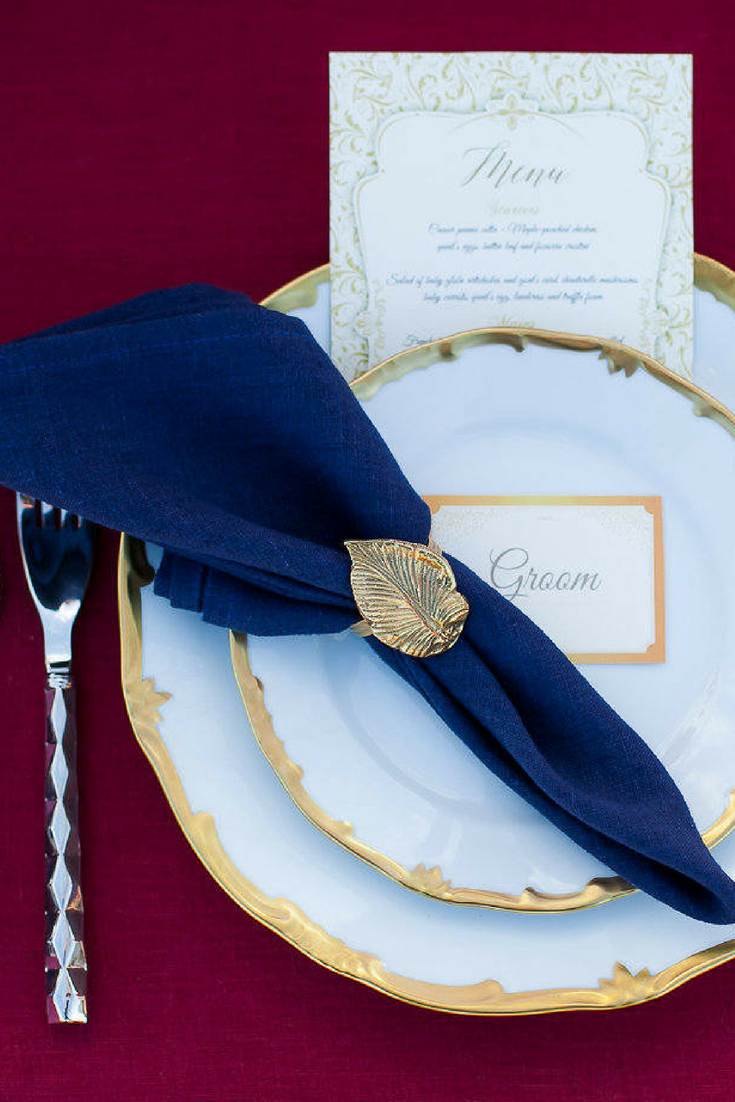 Navy Blue Napkins -set of 6 - $31