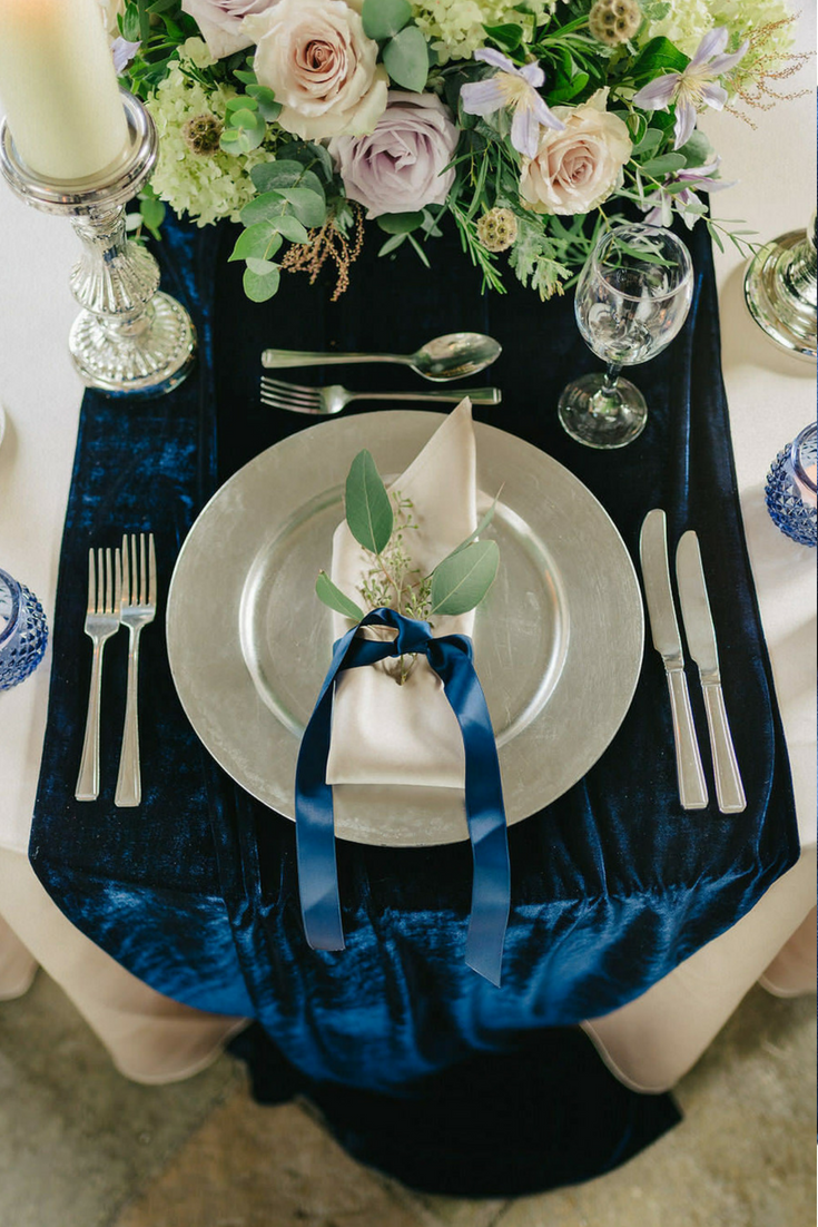 Velvet table runner - $26