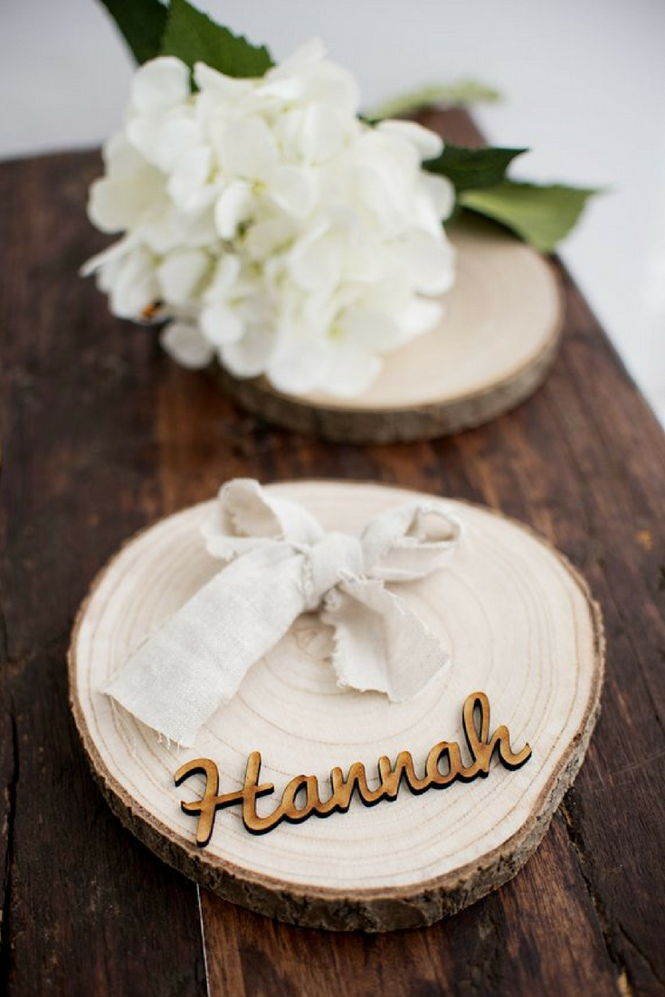 Wooden Place Names for Weddings - from $1