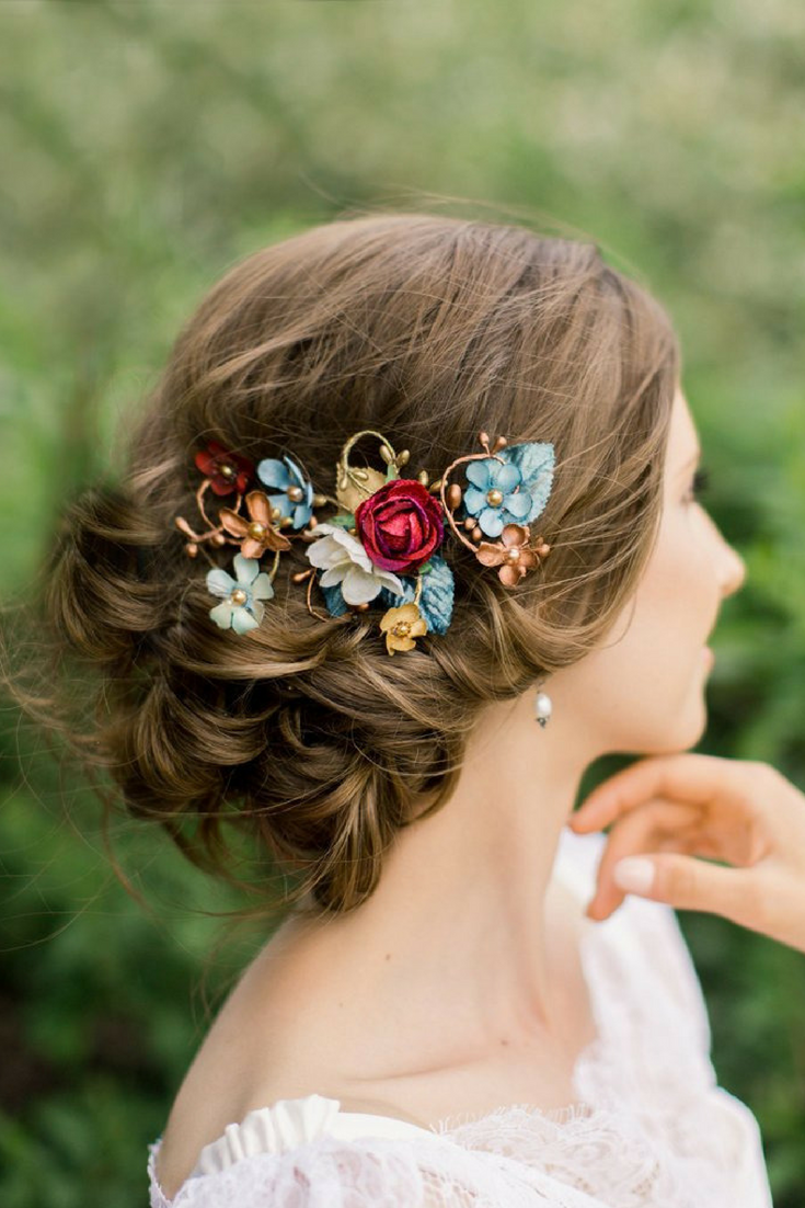 Wedding Floral Hair Clip - $75