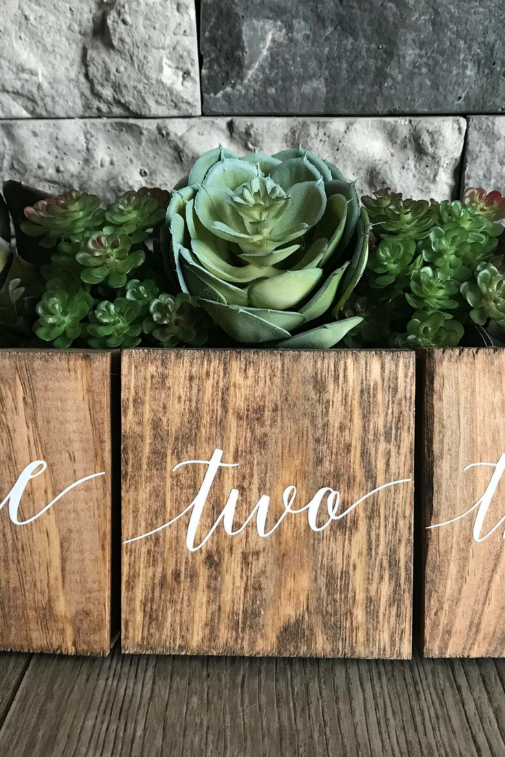 Wooden Table Numbers - from $3