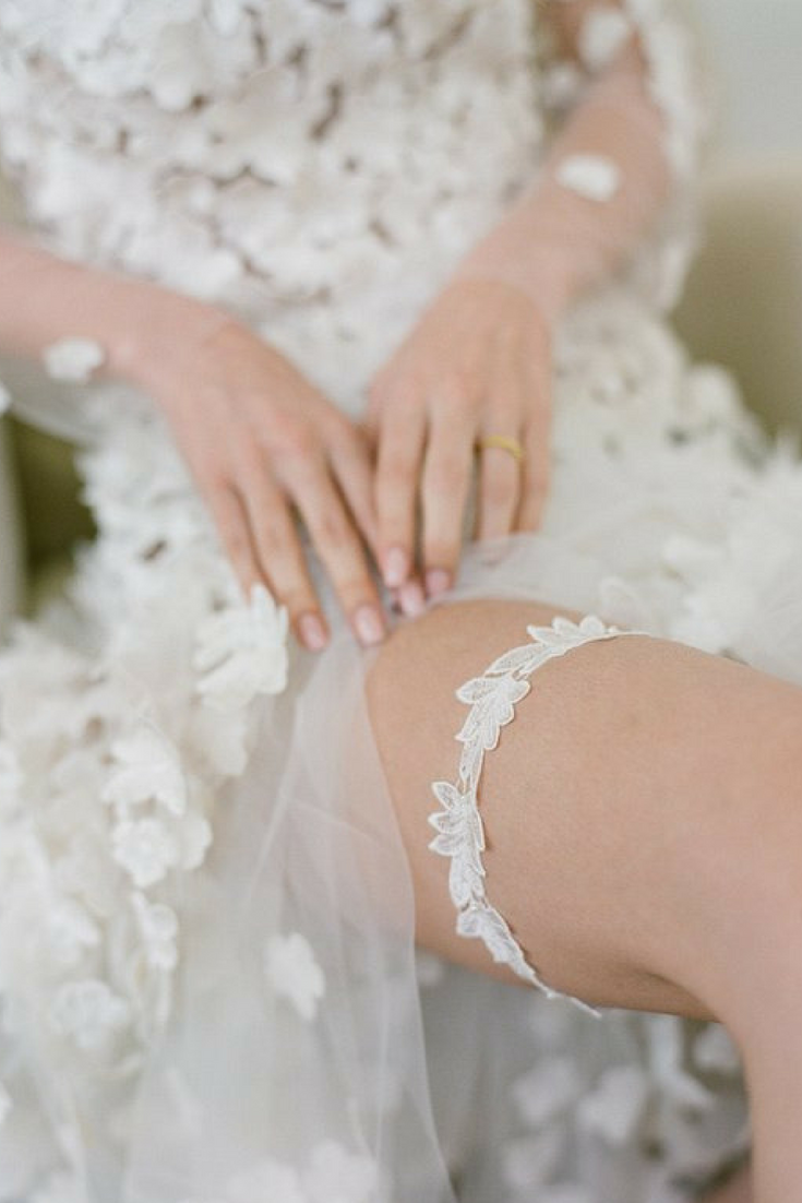 Unique Lace Wedding Garter - $46