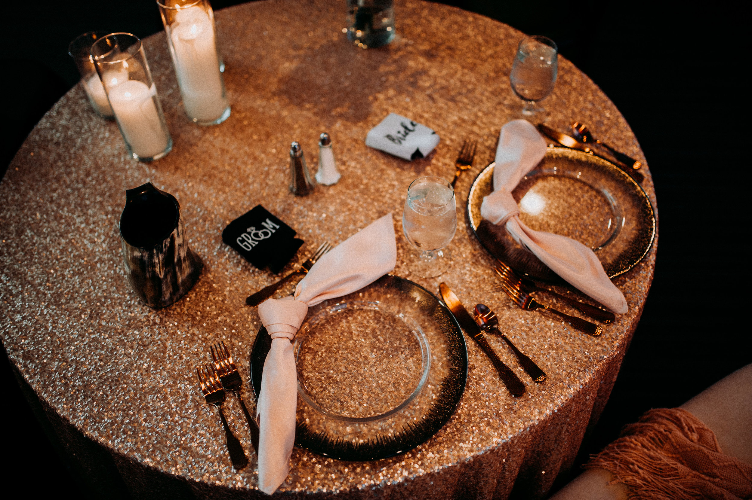 rustic wedding fall colors table copper.jpg