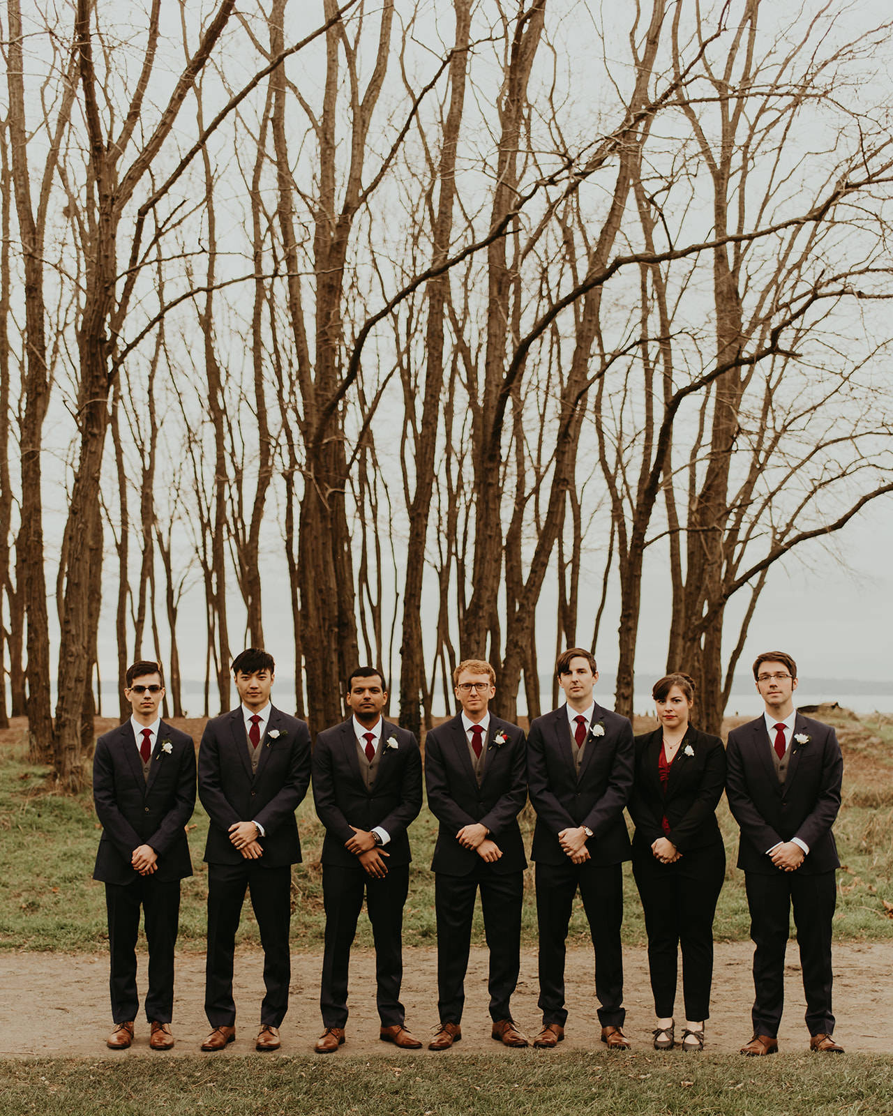bridal party burgundy wedding ,.jpg