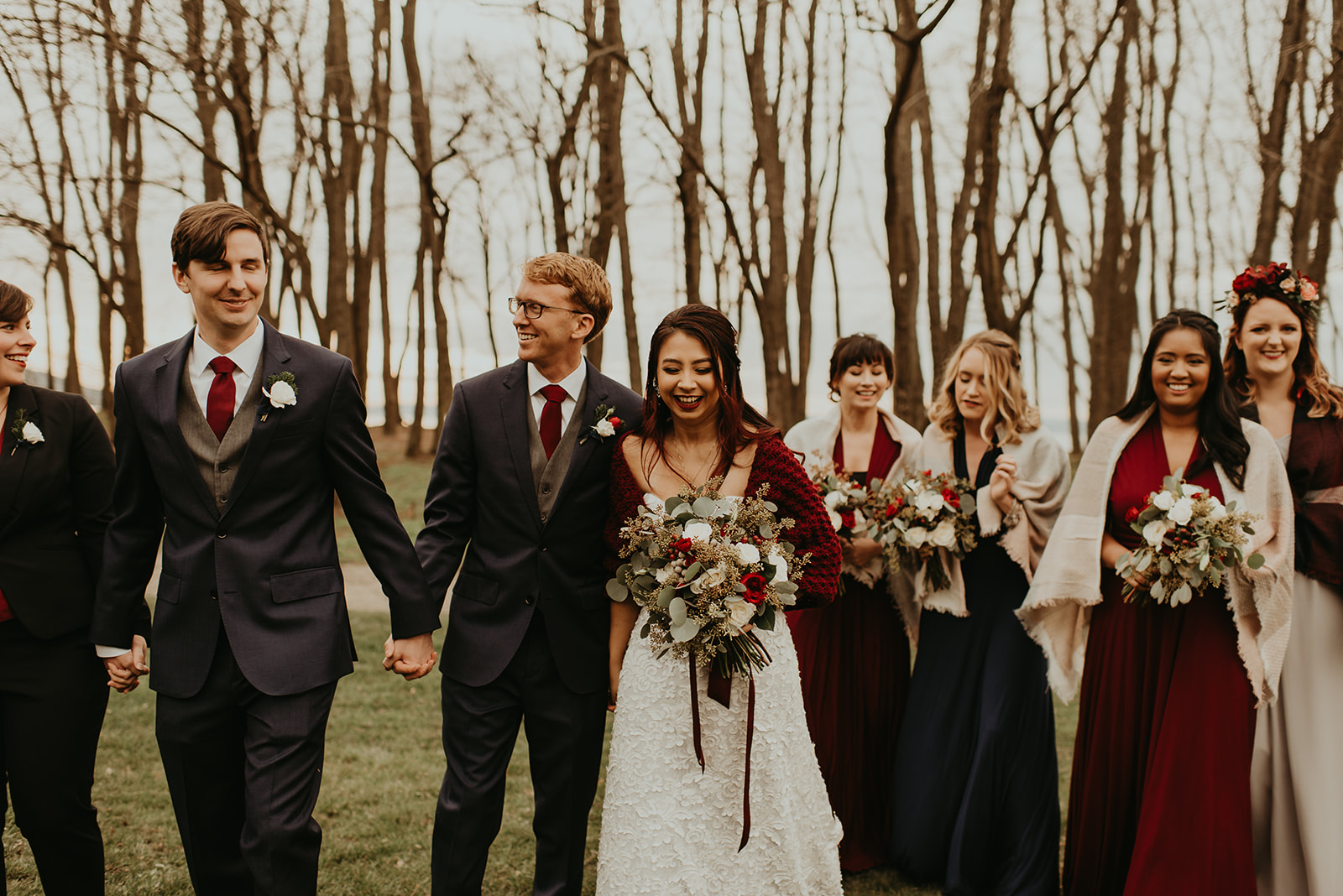 bridal party burgundy wedding.jpg
