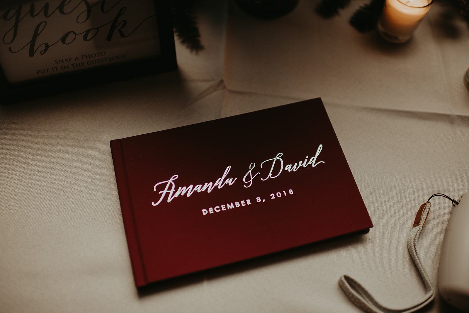 red wedding inspiration guest book.jpg