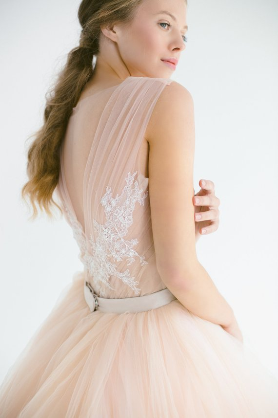 Blush tulle gown, hand embroidered lace top..jpg