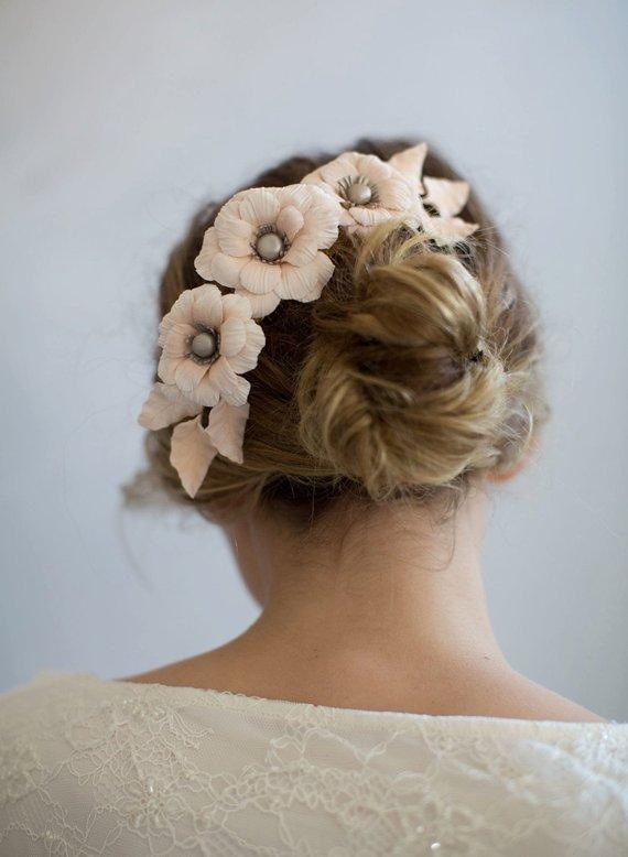 Bridal clay flower headpiece ..jpg