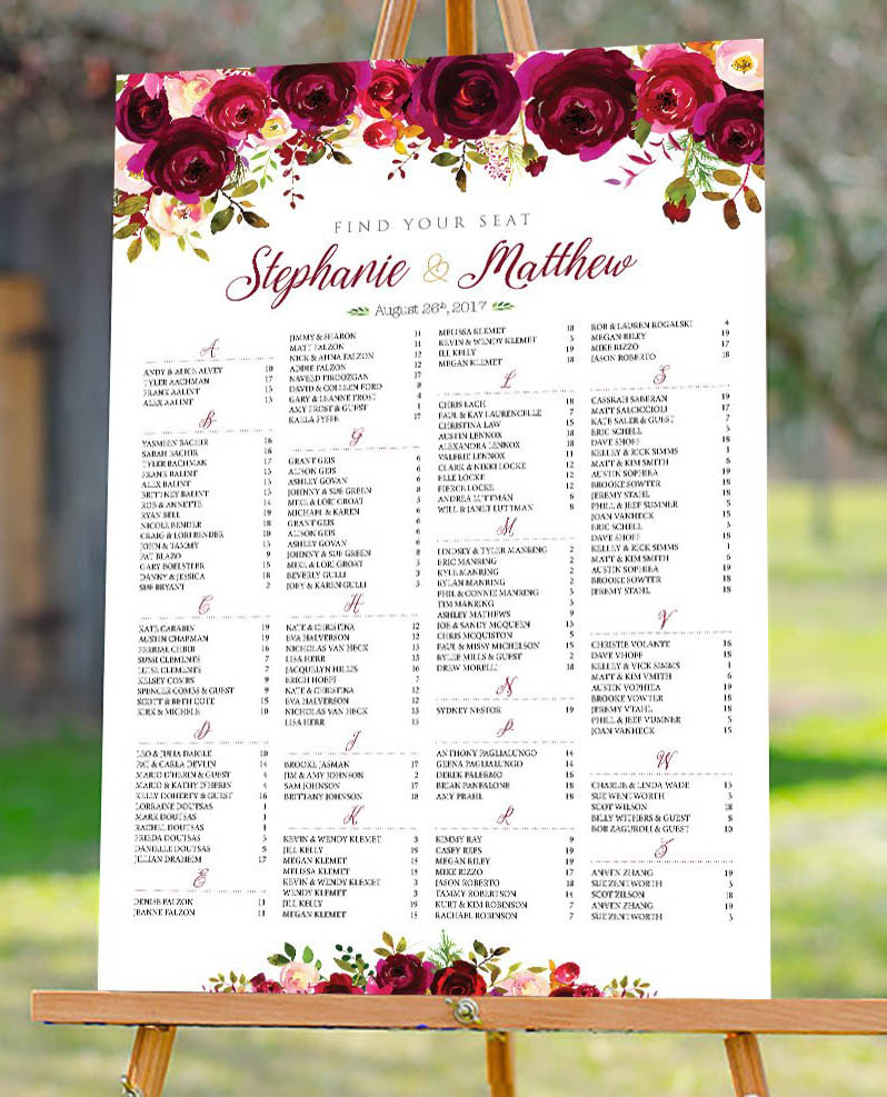 Burgundy, blush, Wedding Seating Chart,.jpg