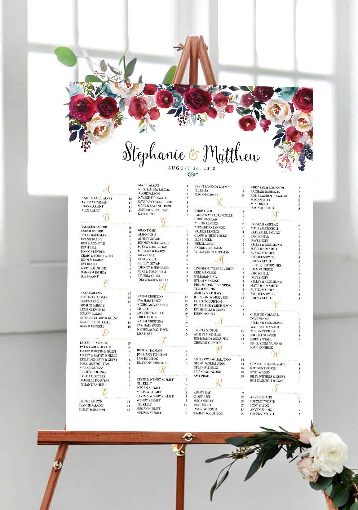 Burgundy, blush, Wedding Seating Chart.jpg