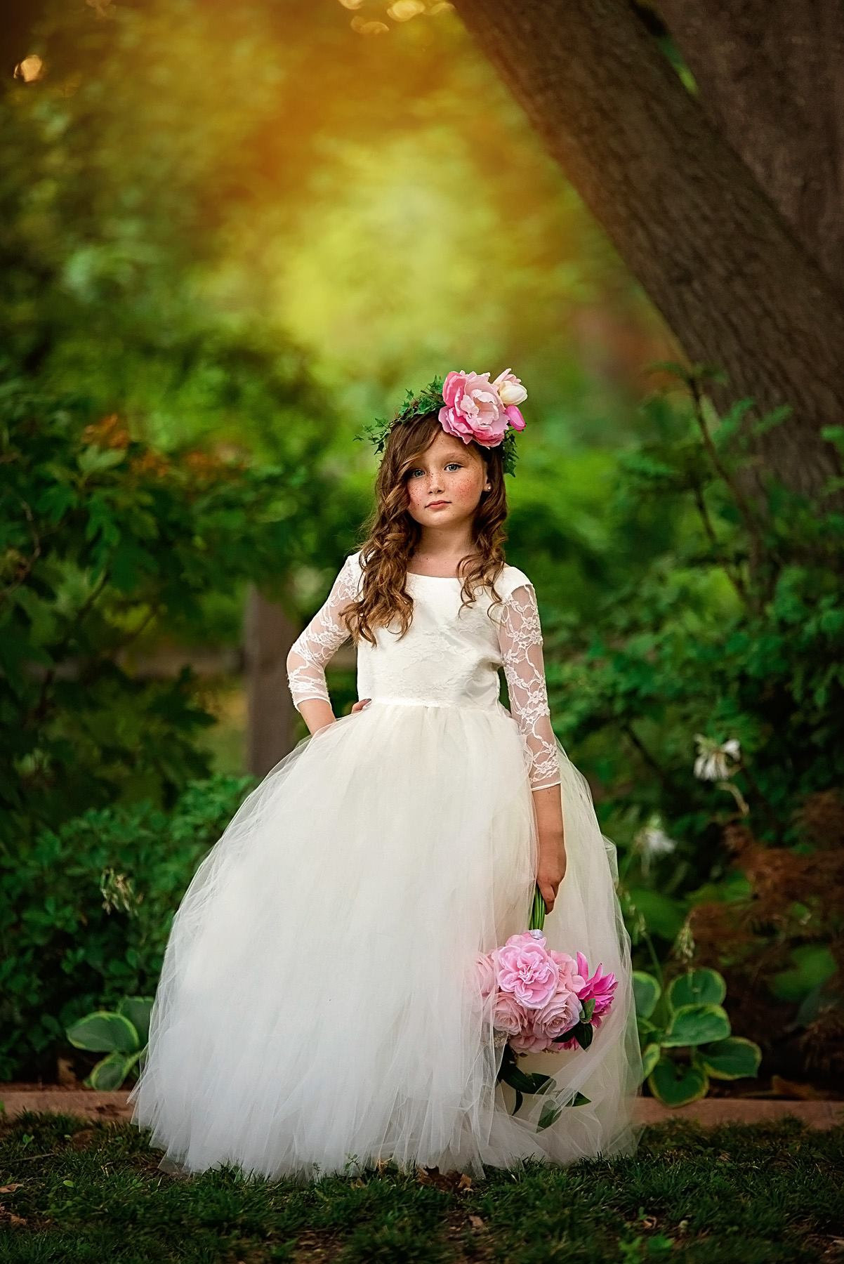 Ivory Lace - Flower Girl Tutu Dress.jpg