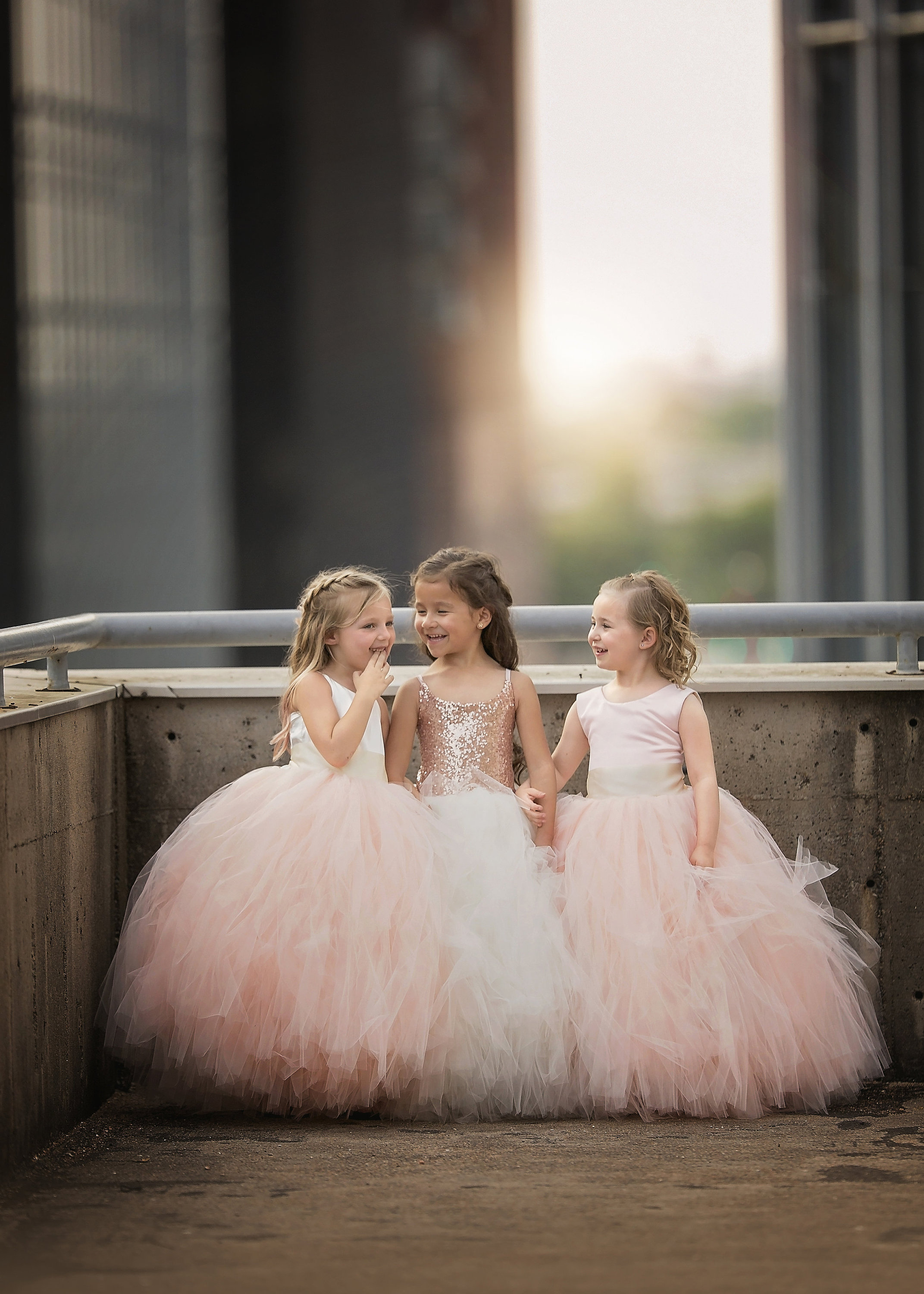 Ivory Satin Bodice and Blush Tulle - Flower Girl Tutu Dress.jpg
