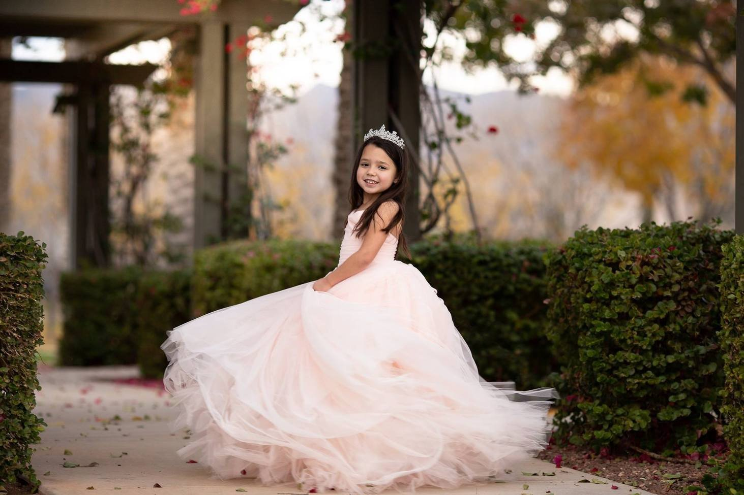 Gown in Blush - Flower Girl Dress, Pageant Dress, Photoshoot Dress.jpg