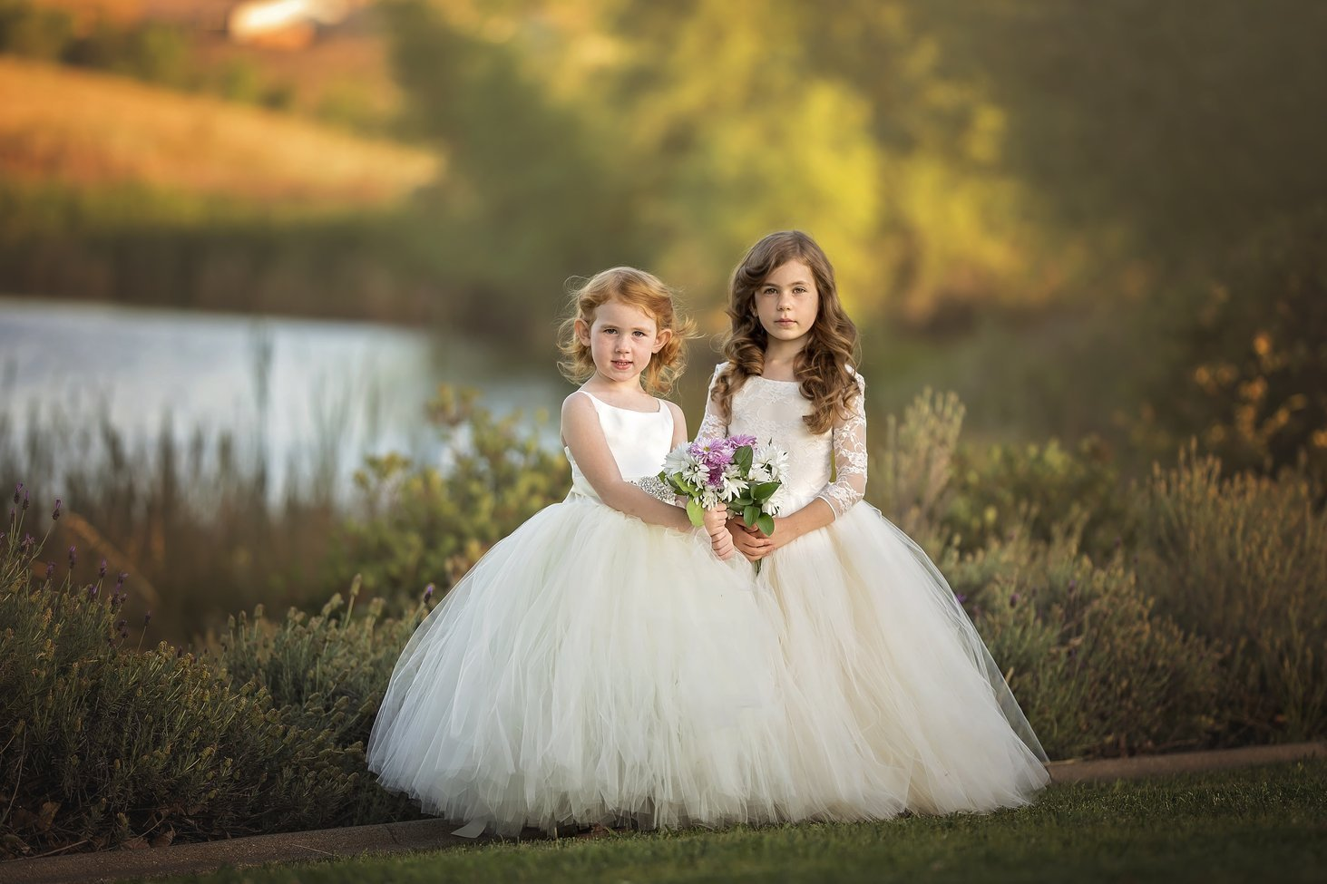Dress in Lace - Ivory and Champagne - Flower Girl Tutu Dress.jpg