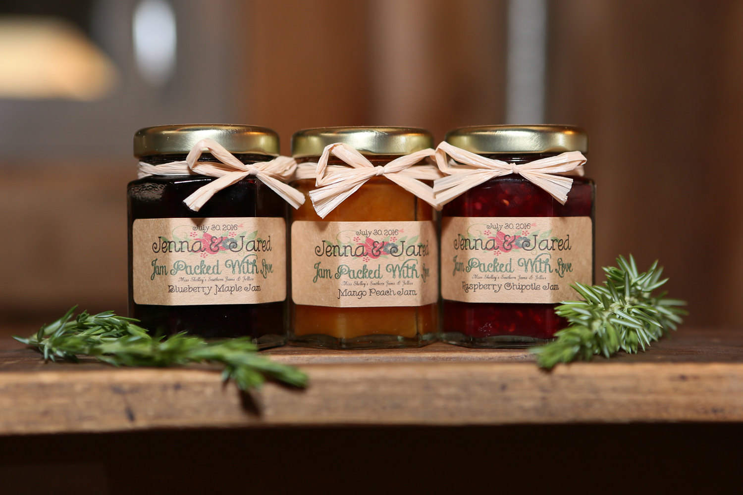 Rustic Wedding Jam Favors, 125 (2oz) Jam Filled Jars, Wedding Guest Favors, Thank You Gift , Edible.jpg