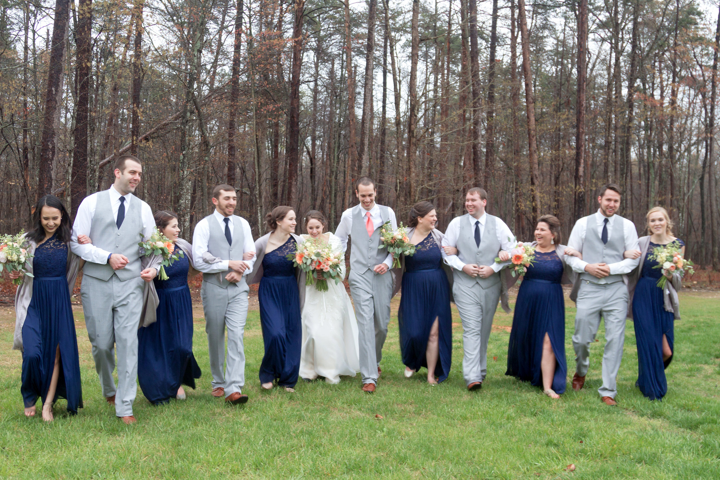 royal blue bridal party