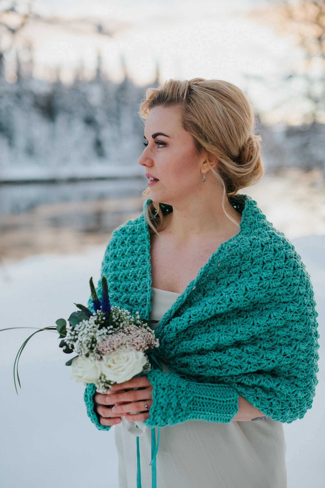 Wedding dress cover up knit capelet bridal shawl green sage,.jpg