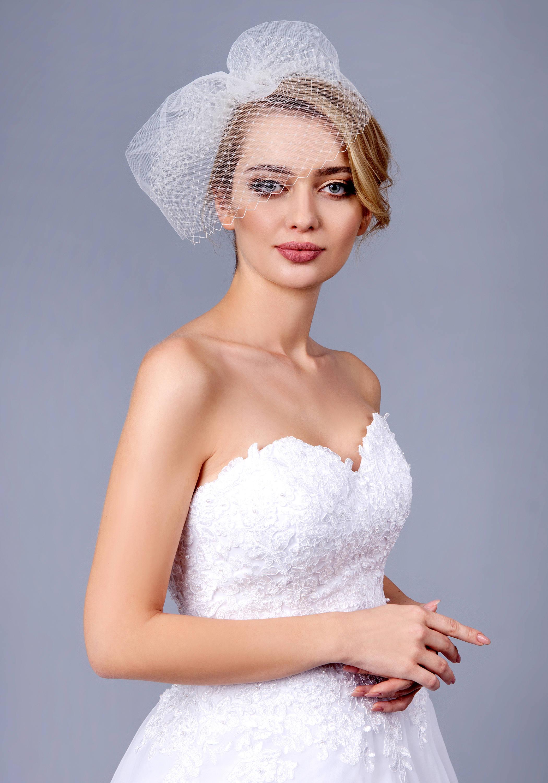 Full Double layer bandeau birdcage veil Bandeau Veil, Birdcage Veil, Wedding Veil, Bridal Veil, Russian Veil Tulle Veil, Bird Cage.jpg