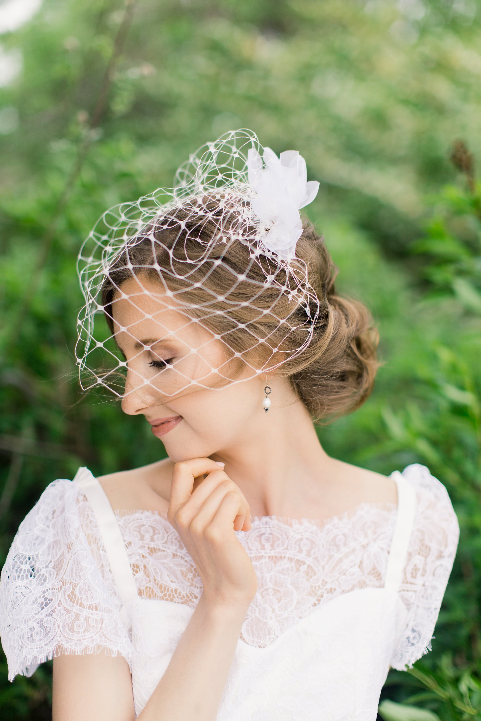 bridal birdcage veil, large scale diamond pattern, wedding bird cage veil.jpg