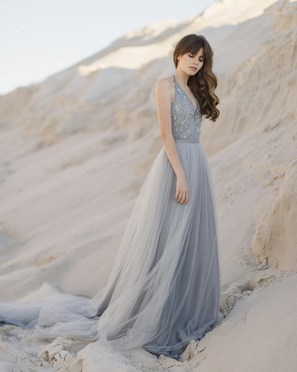 Tulle wedding skirt, bridal blue skirt.jpg