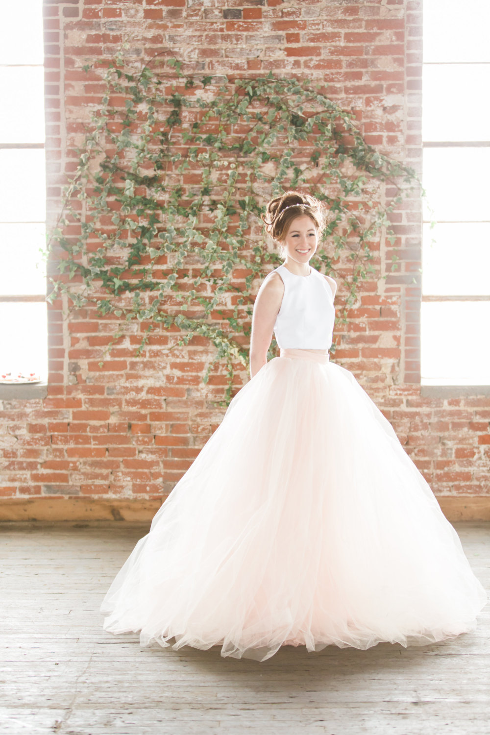 Train - Tulle Skirt - Tulle Wedding Dress - Colored Wedding Dress .jpg