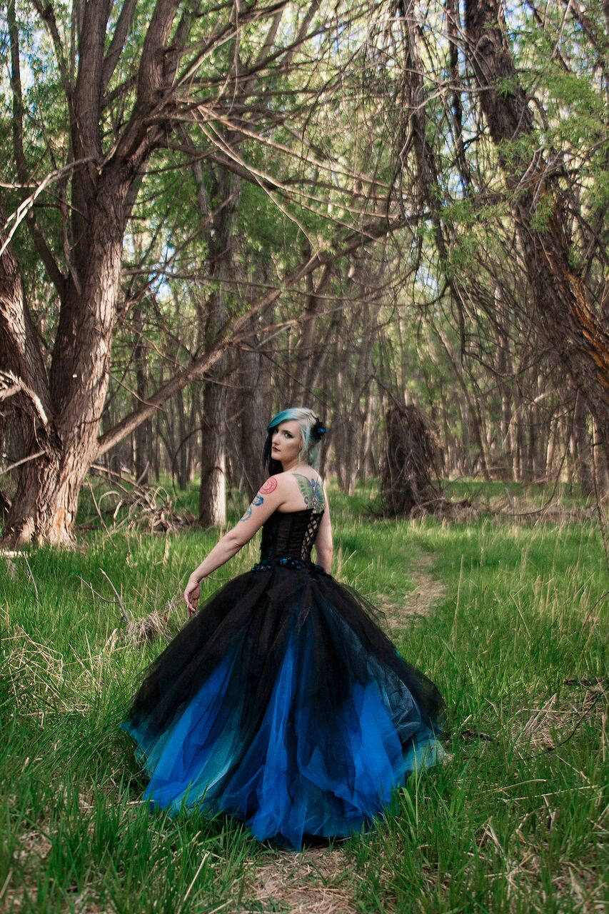 gothic wedding dress holographic black once piece corset  gown tulle alternative.jpg