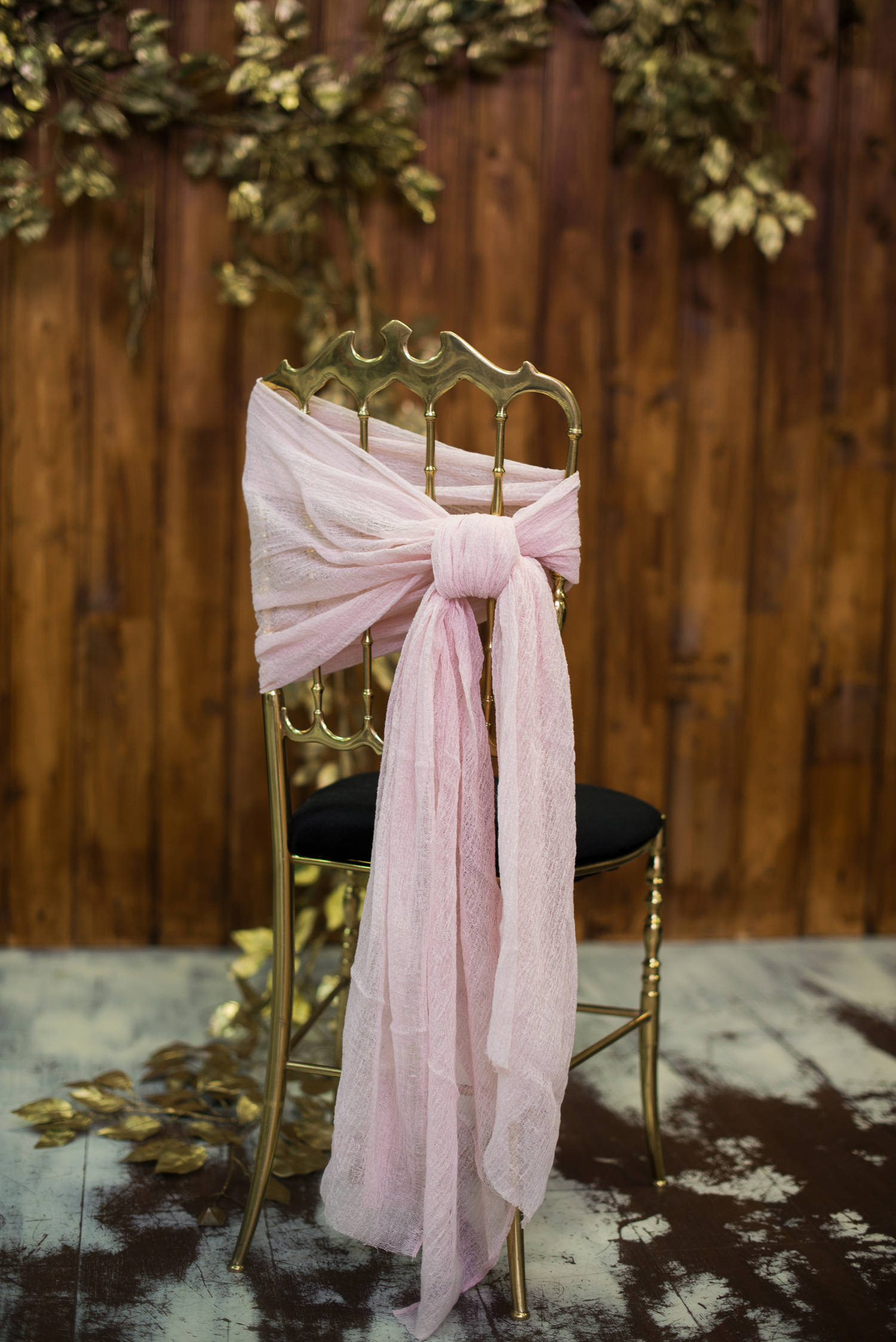 Chair Sashes Gauze sash Chair cover Wedding chair decorations Blush chiffon sash Cheesecloth chair cover Rustic wedding decor Beach wedding.jpg