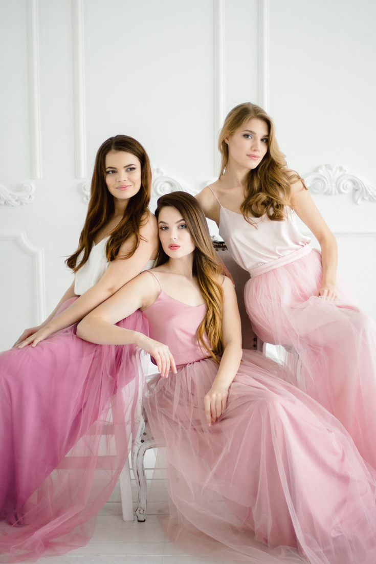 Blush Pink Palette Bridesmaids Tulle Dress , Blush.png