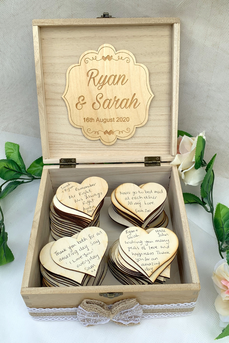 Wedding Guest Book Alternative Drop in Wish Box Wishes Wood Rustic Vintage Wedding.png