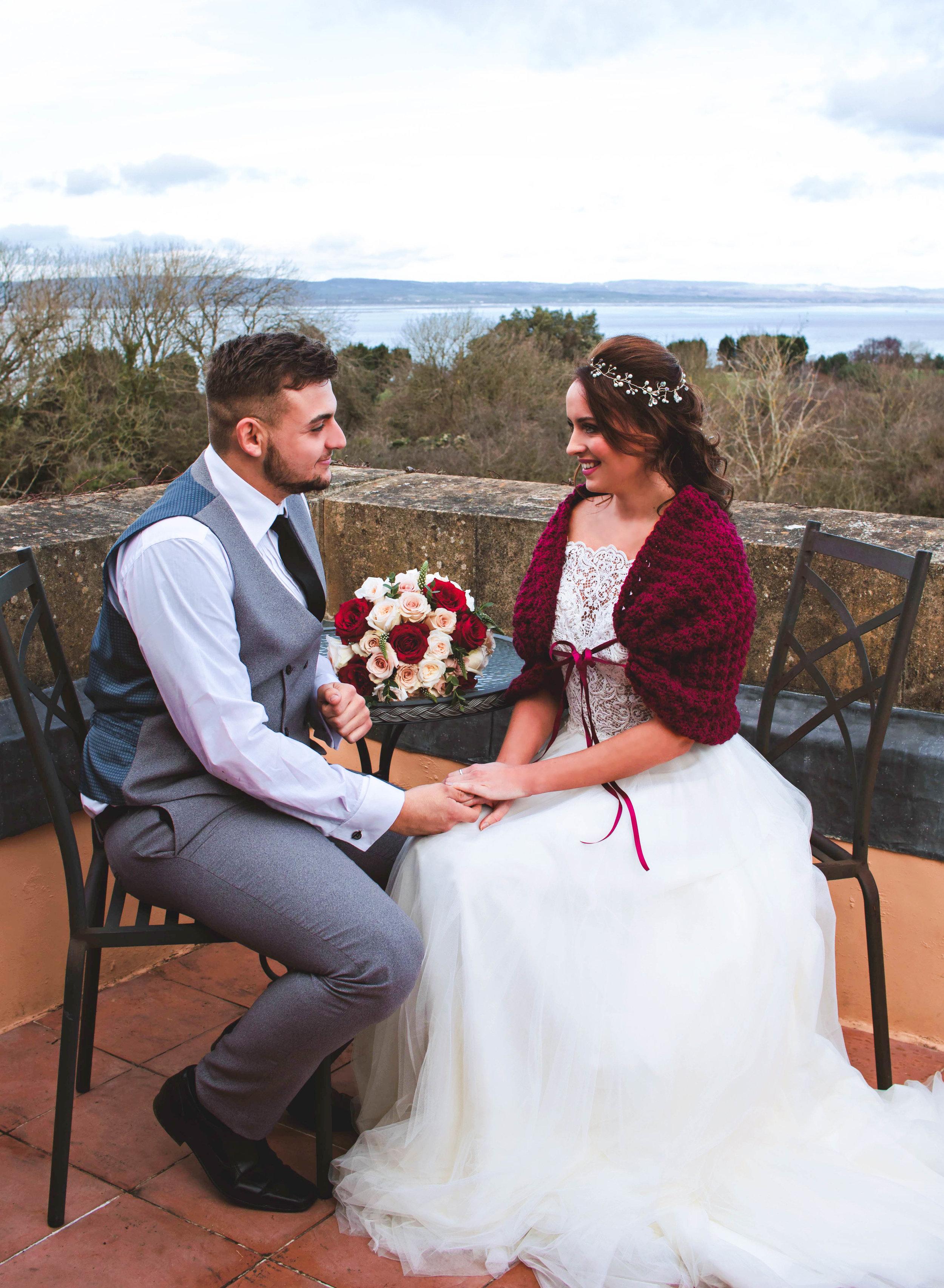 burgundy bridal shawl walton castle wedding inspiration.jpg