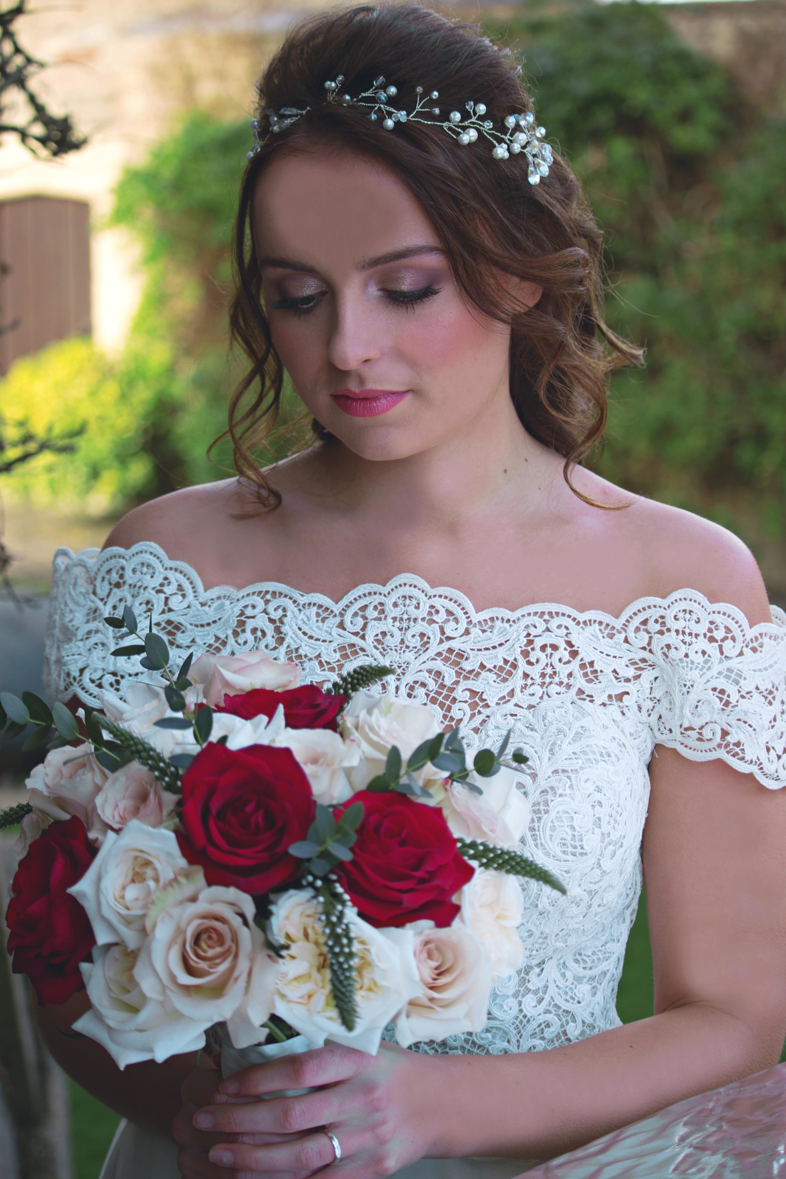 red roses bridal bouquet walton castle wedding inspiration.jpg