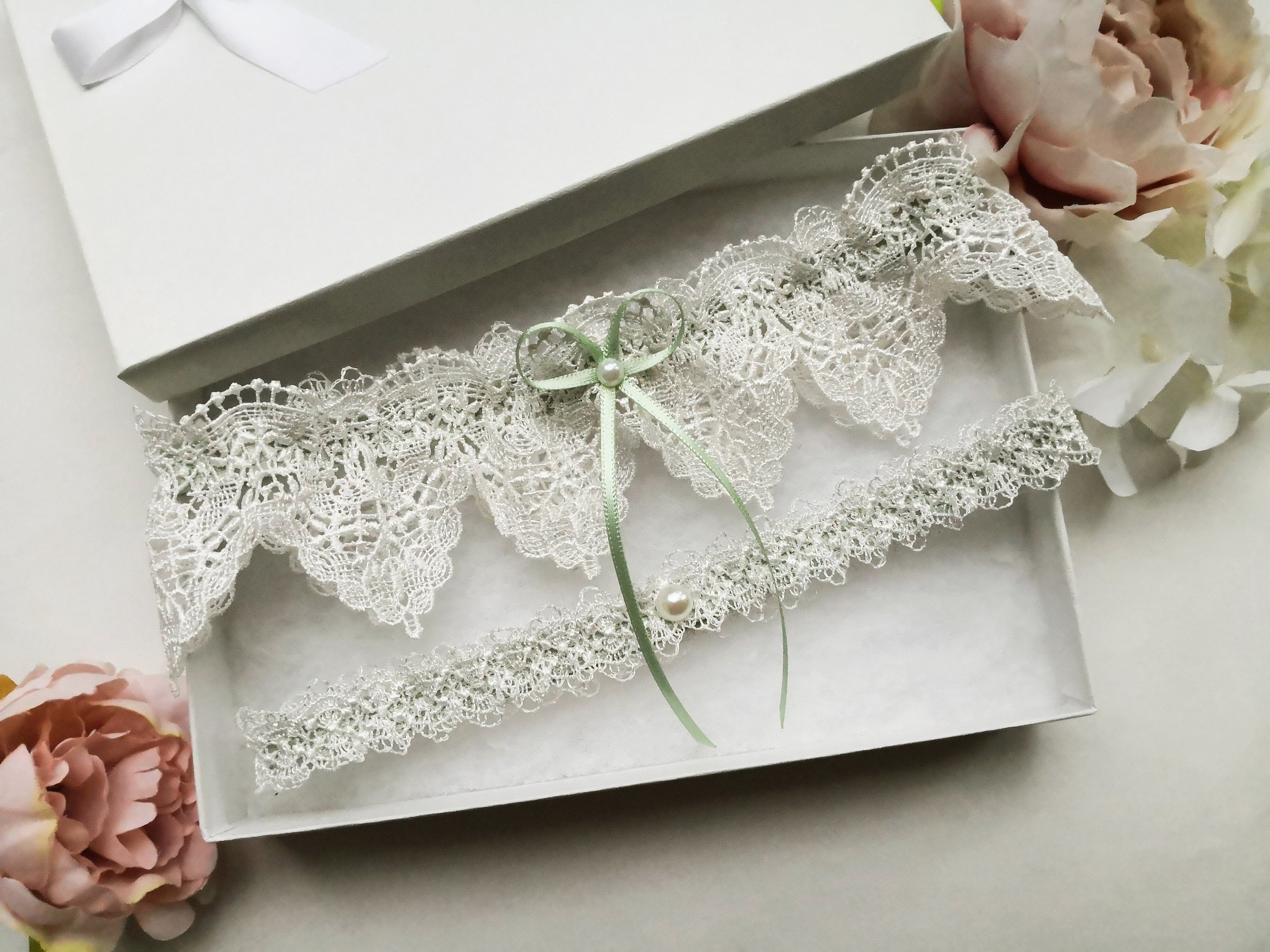 Sage green wedding garter set.jpg