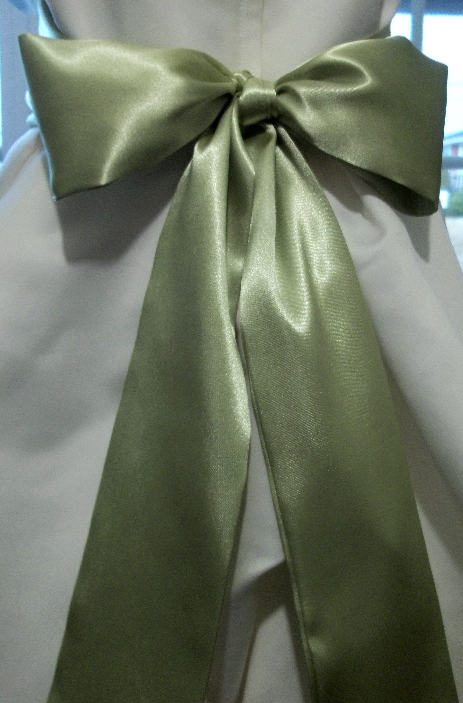 Floor Length LIGHT SAGE Bridal Sash Satin.jpg