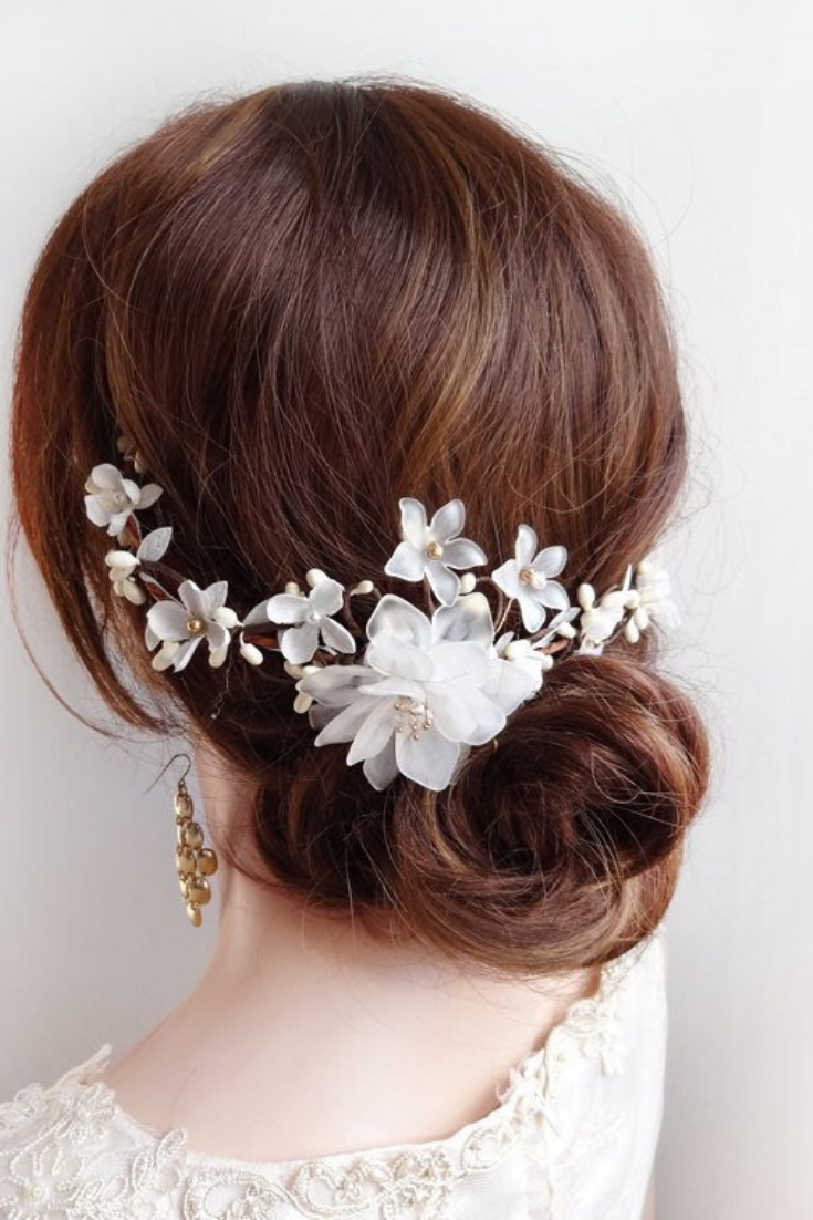 bridal hair comb flower vine, wedding headpiece, low chignog.png