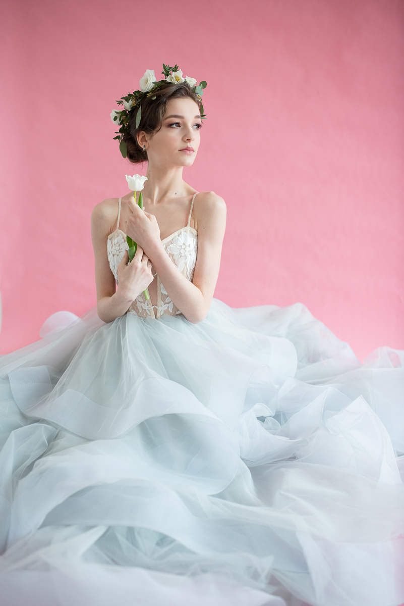 light blue tulle bridal gown milamirabridal