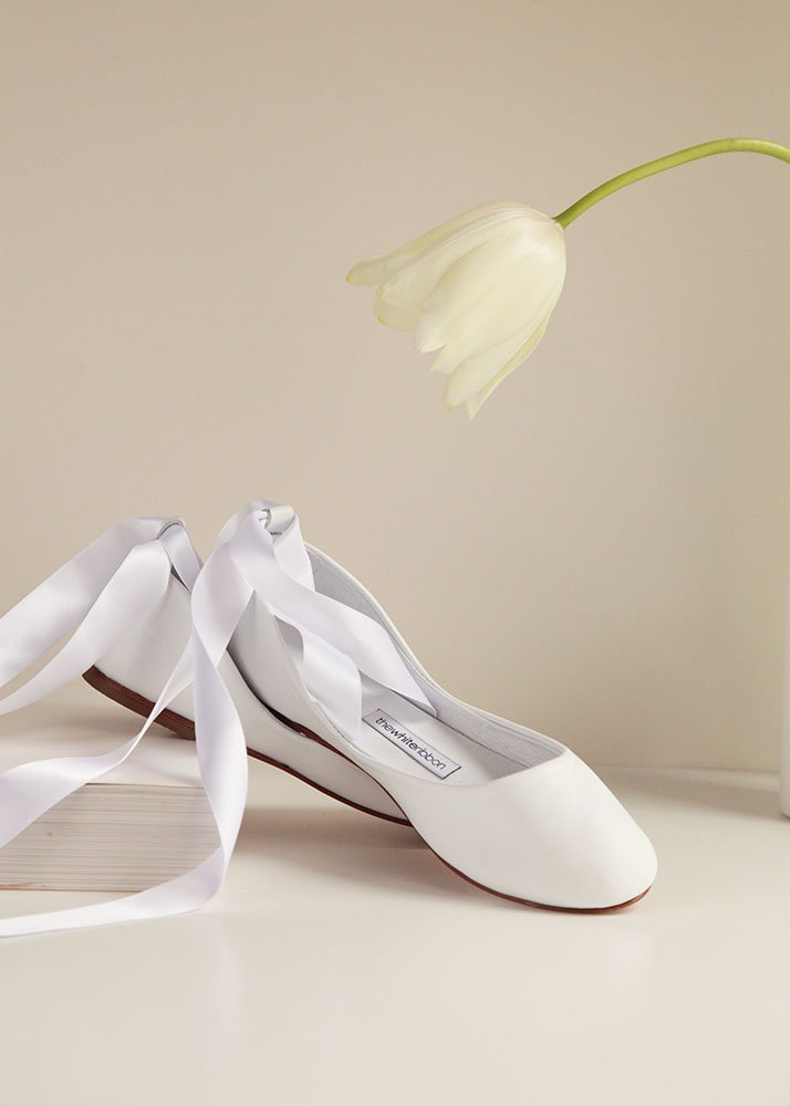 The Bridal Bolshoy White Ballet Shoes  Wedding Flats.jpg