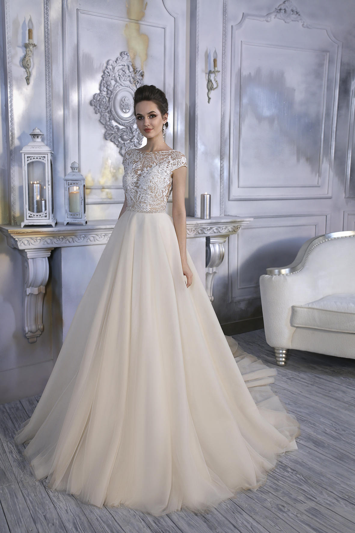 Open Back Wedding Dress - Orla Unique Wedding Dress - Long Wedding Dress with Train - Simple Lace Dress - Abito da Sposa - Robe de Mariée.jpg