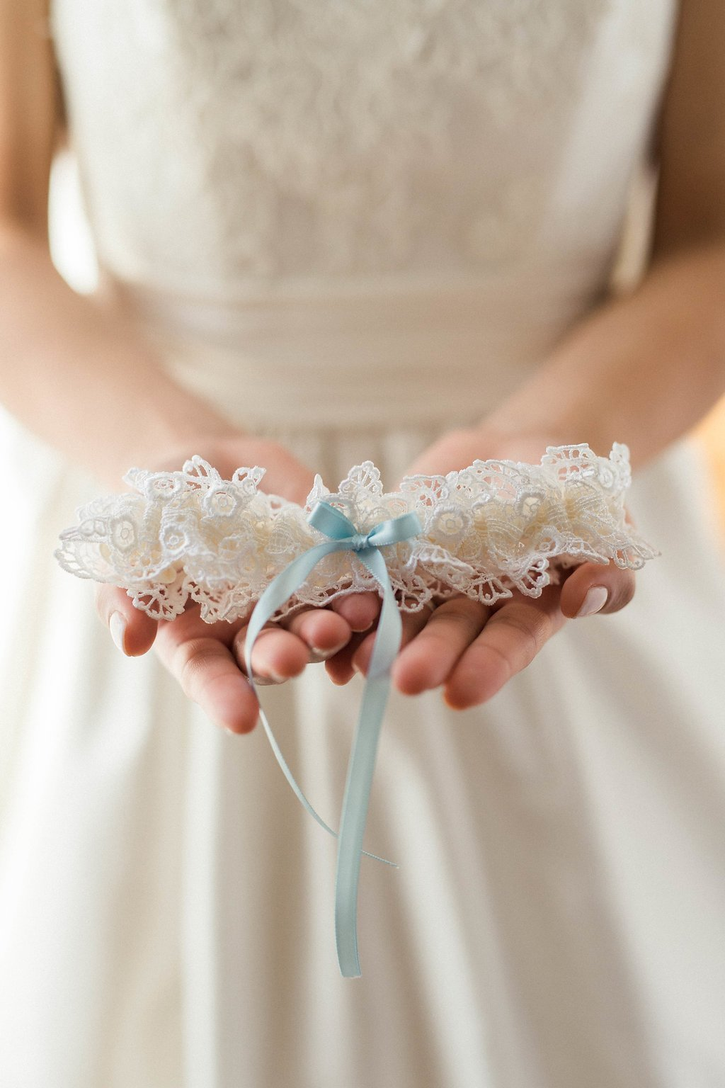 Lace Bridal Garter w Blue, Something Blue Gift For Bride, Wedding Heirloom Lace Garter.jpg