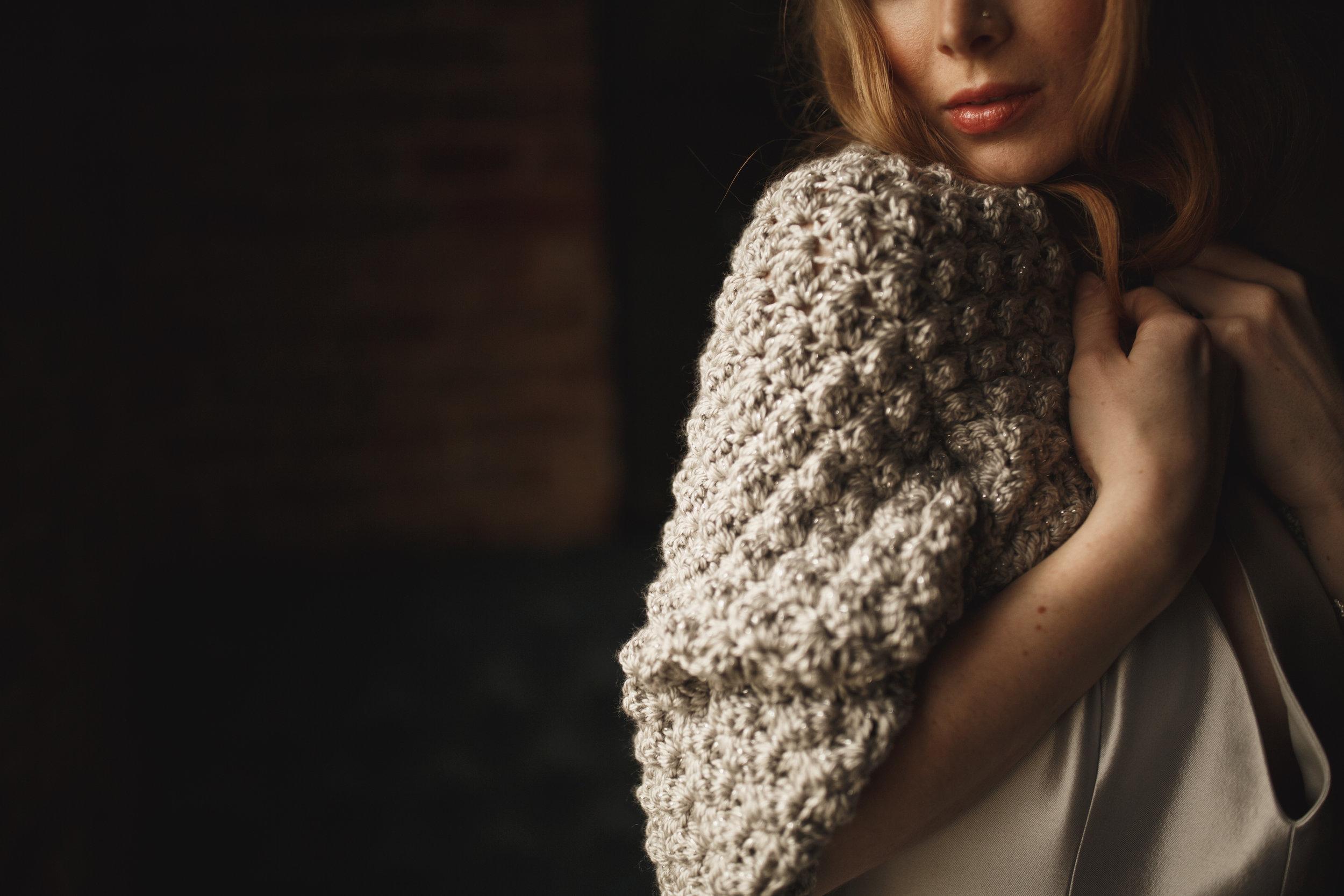 silver bridal shawl wedding wrap crochet