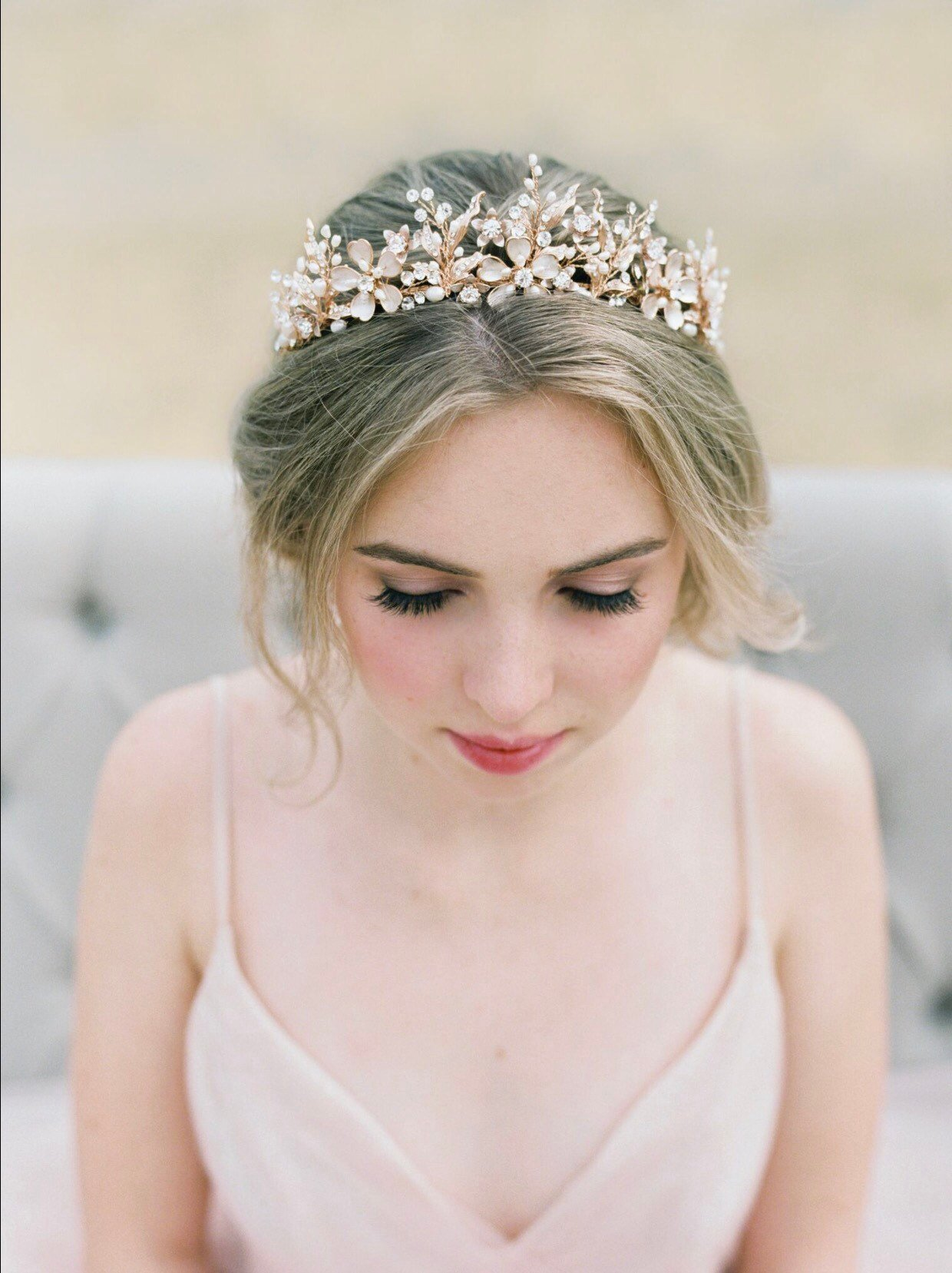 Bridal Tiara GENEVIEVE Tiara Rose Gold Crystal Wedding Crown Rhinestone Tiara Wedding Tiara Headpiece Crown Swarovski Crystal Tiara.jpg
