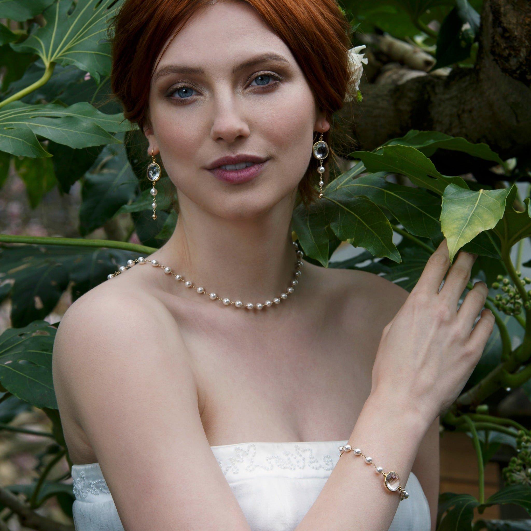 Statement Bridal Necklace   Multi Strand Wedding Necklace   Low Back Necklace Bridal