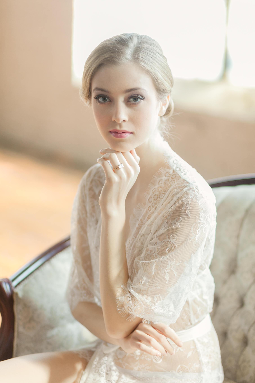 White Lace Bridal Robe Wedding Gift for Bride Bridal Lingerie  Cover Up.jpg