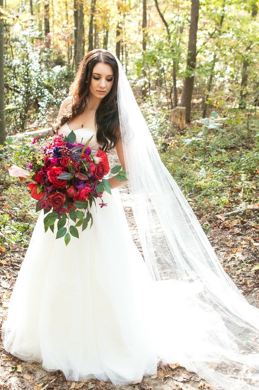 Large Wedding Bouquet, Silk Wedding Bouquet, Red and Purple Silk Bouquet with Berries and Greenery, Extra Large Bouquets, Wedding Bouquet.jpg