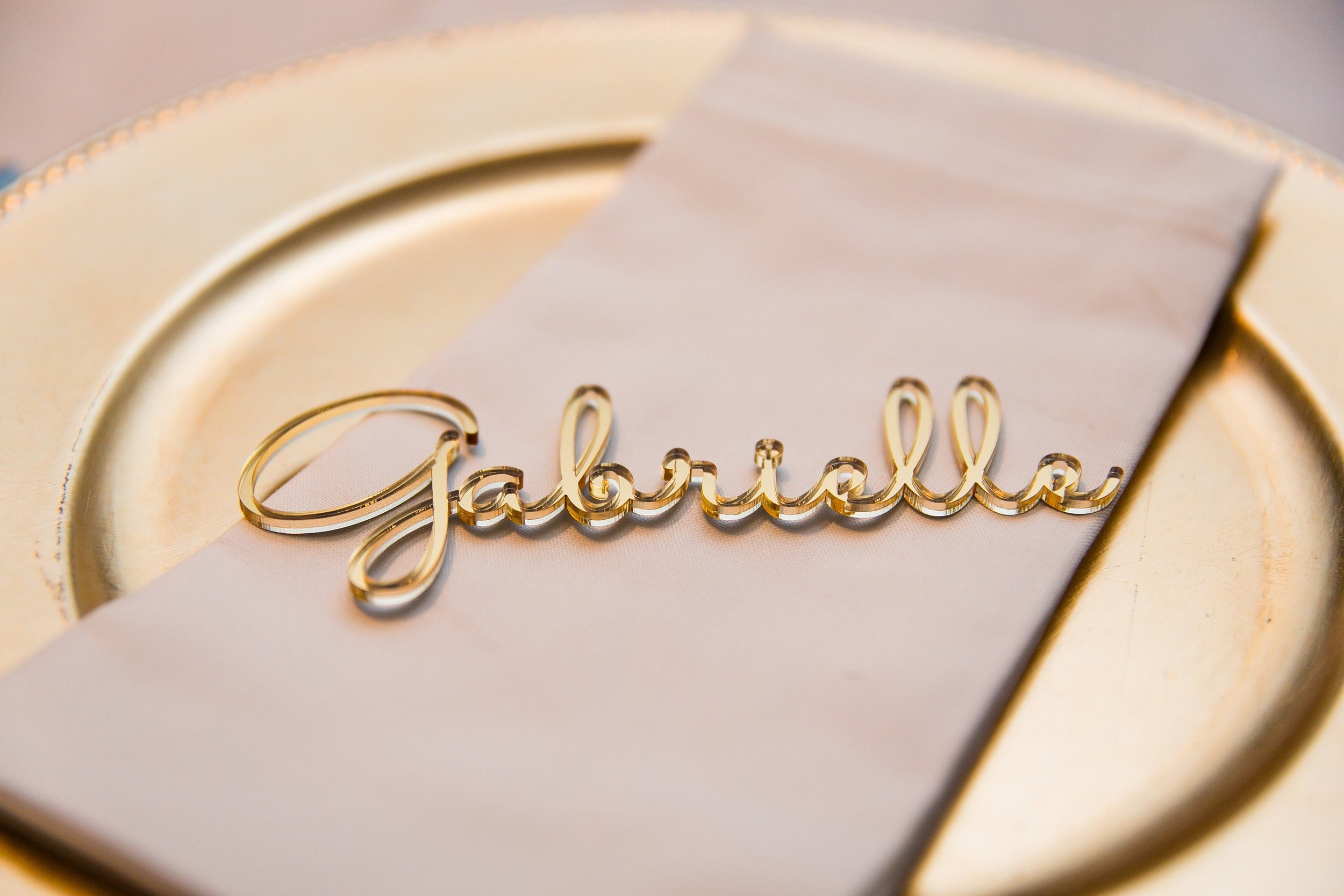 Personalized Acrylic Laser Cut Names Gold Place Cards Name Settings Guest Tags Wedding Party.jpg